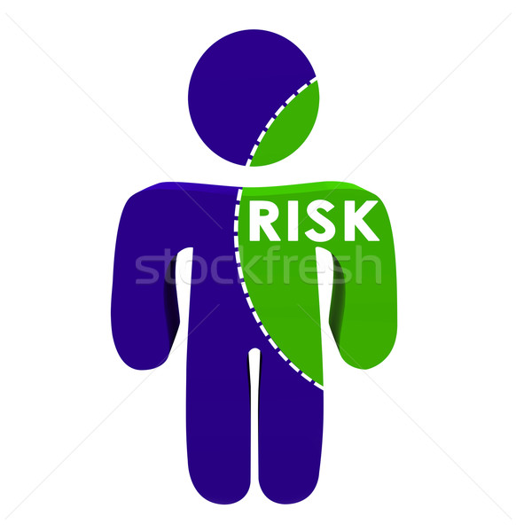 Risk Word Dotted Line 3d Person Percentage Portion Stock photo © iqoncept