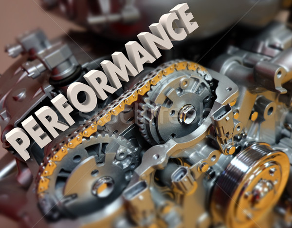 Performance Word Engine Car Automotive Motor Speed Racing Stock photo © iqoncept