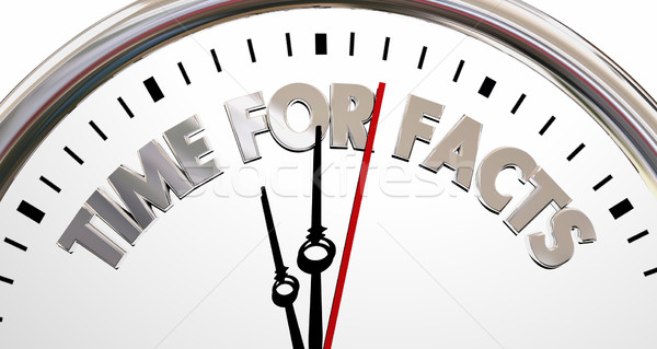 Time for Facts Truth Reality Research Clock 3d Illustration Stock photo © iqoncept