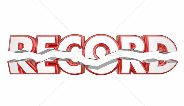Record Breaker Top Score Best Result Word 3d Illustration Stock photo © iqoncept