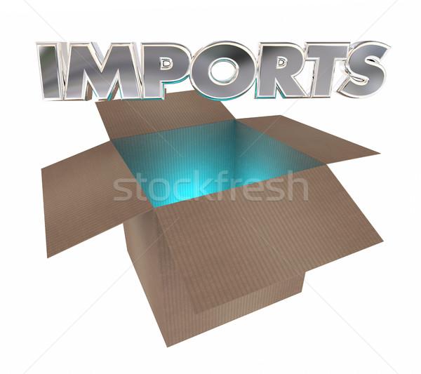 Imports Products Box Shipment International Production 3d Illust Stock photo © iqoncept