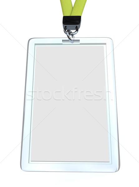 Blank Name Badge with Lanyard Stock photo © iqoncept