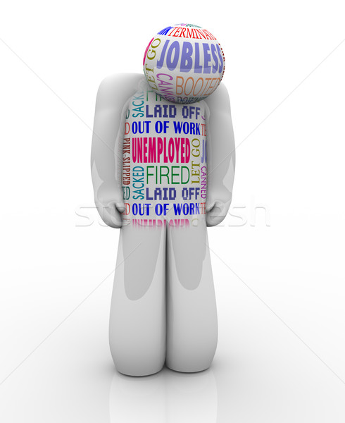 Unemployed Person Sad Fired Jobless Wants Job Stock photo © iqoncept