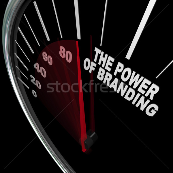 The Power of Branding Speedometer Measuring Loyalty Stock photo © iqoncept