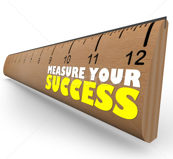 Measure Your Growth Ruler to Review and Assess Progress to Goal Stock photo © iqoncept