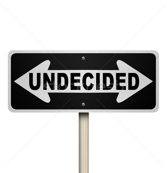 Undecided Word Two-Way Road Sign - Isolated Stock photo © iqoncept