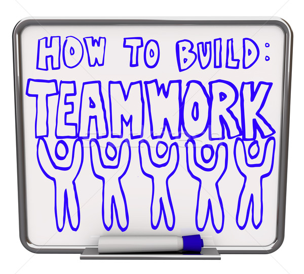 How to Build Teamwork - Dry Erase Board Stock photo © iqoncept