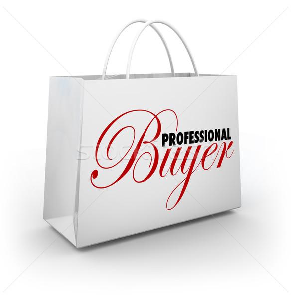 Profi vevő bevásárlószatyor személyes vásárló asszisztens Stock fotó © iqoncept
