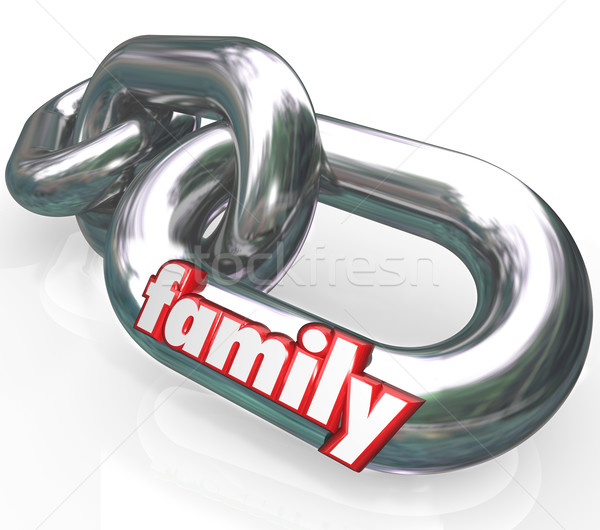 Family Chain Links Relationships Families Parenthood Stock photo © iqoncept