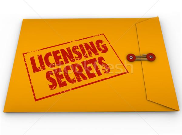 Secrets jaune enveloppe aider conseil licence Photo stock © iqoncept