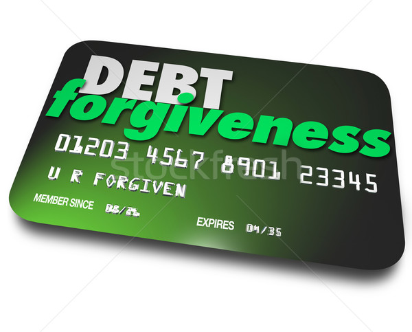 Debt Forgiveness Loan Balance Repayment Consolidation Credit Car Stock photo © iqoncept