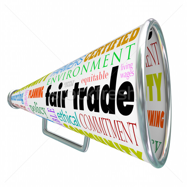 Fair Trade Megaphone Bullhorn Supply Chain Sustainable Environme Stock photo © iqoncept
