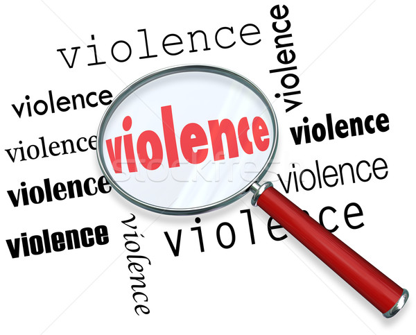 Violence Cause Investigation Magnifying Glass Stock photo © iqoncept