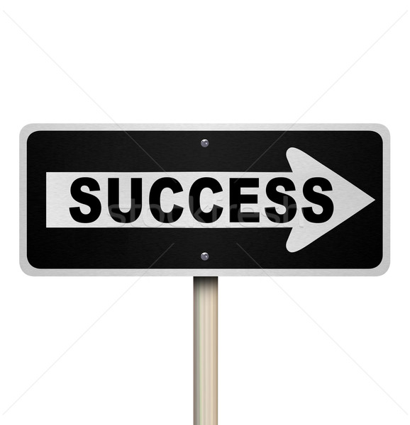 Success Road Sign - Isolated Stock photo © iqoncept