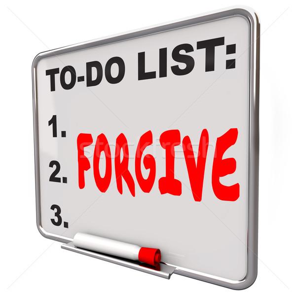 слово написанный чтобы сделать список совета высушите Сток-фото © iqoncept