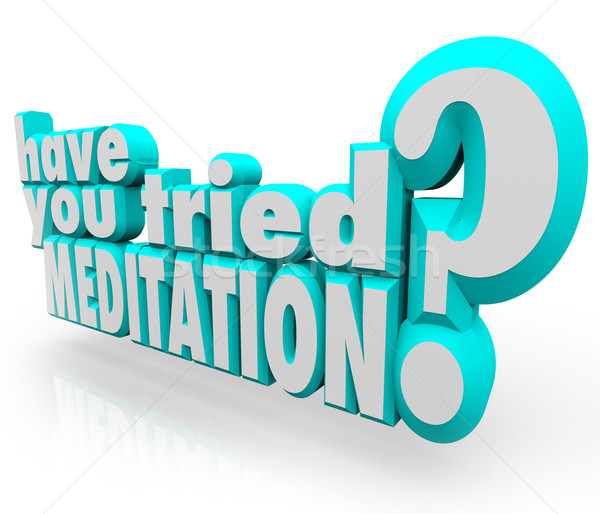 Have You Tried Meditation 3d Words Meditate Inner Peace Stock photo © iqoncept