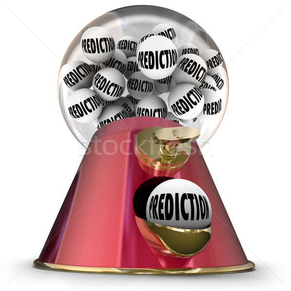 Prediction Gumball Machine Prophesy Fate Destiny Fortune Teller Stock photo © iqoncept