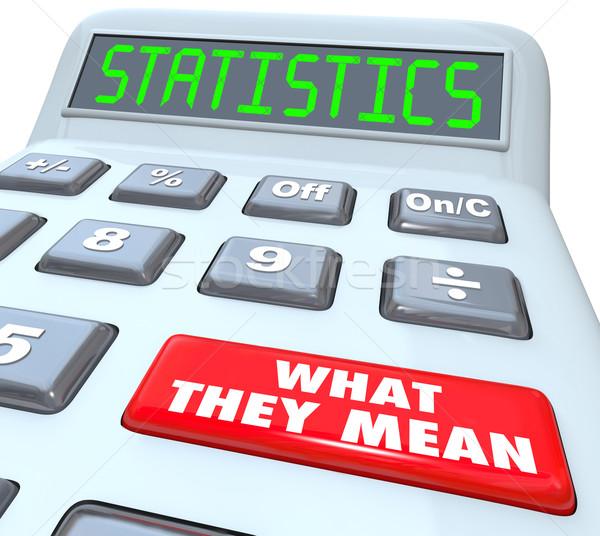 Statistiche parola mutui percentuale tasso cosa Foto d'archivio © iqoncept
