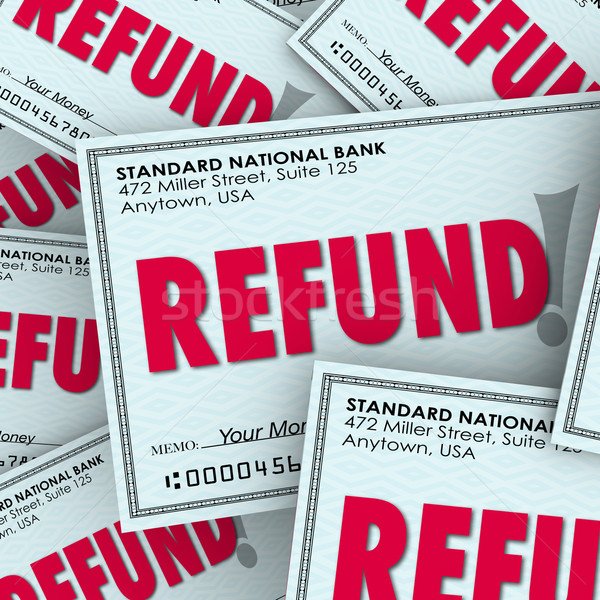 Refund Check Pile Money Back Return Payments Stock photo © iqoncept