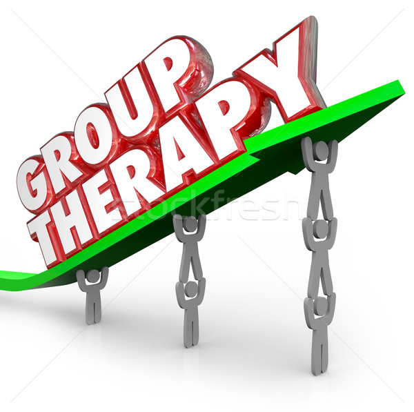 Stock photo: Group Therapy Patients Sharing Healing Together Treatment Sessio