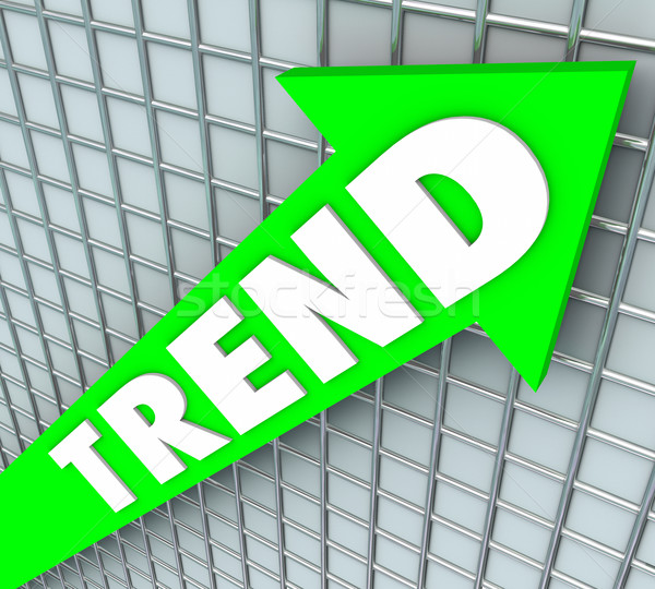 Trend Arrow Line Graph Chart Popular Rising Increase Stock photo © iqoncept