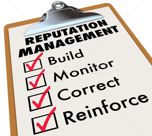 Zarządzania schowek słowa istotny kroki Zdjęcia stock © iqoncept
