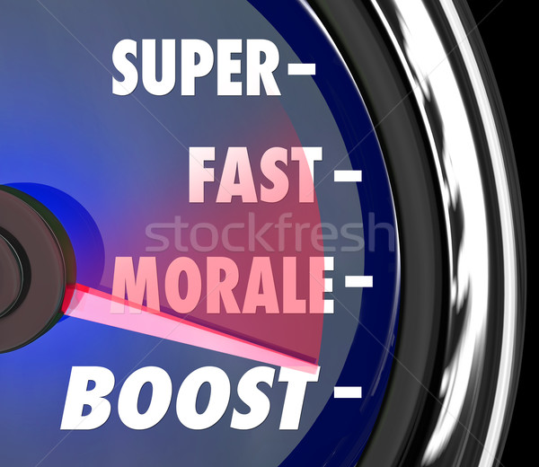 Super Fast Morale Boost Speedometer Words Stock photo © iqoncept