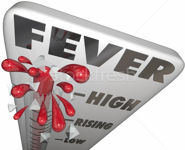 Fever Thermometer Measure Illness Temperature Sick Cold Flu Stock photo © iqoncept