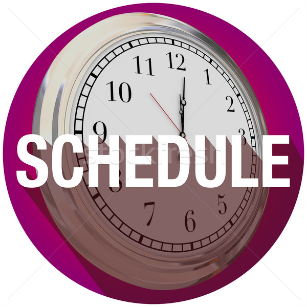 Schedule Clock Long Shadow Appointment TIme Meeting Stock photo © iqoncept