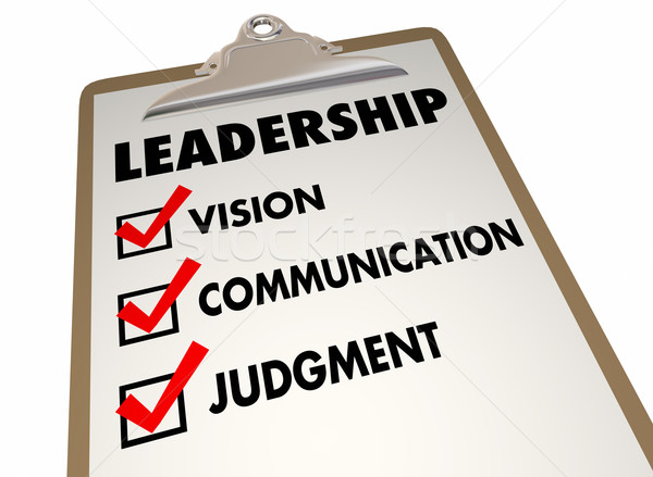 Leadership Steps Method Process Clipboard Checklist 3d Illustrat Stock photo © iqoncept