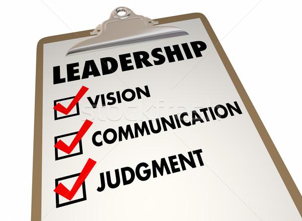 Leiderschap stappen methode procede Stockfoto © iqoncept