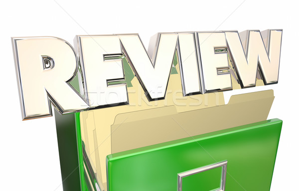Review Documents Paperwork Archives 3d Word Evaluation Stock photo © iqoncept
