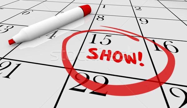 Show Concert Event Performance Calendar Day Date 3d Illustration Stock photo © iqoncept