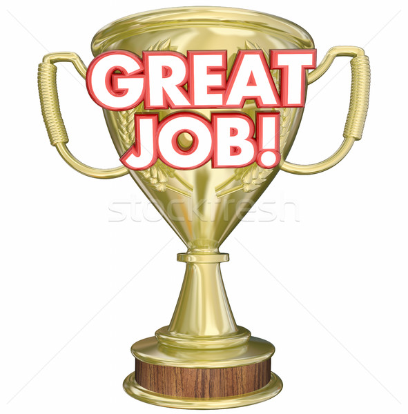 Great Job Performance Recognition Trophy 3d Illustration Stock photo © iqoncept