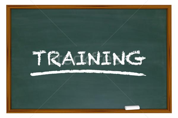 Training Education Class School Chalk Board Learning 3d Illustra Stock photo © iqoncept