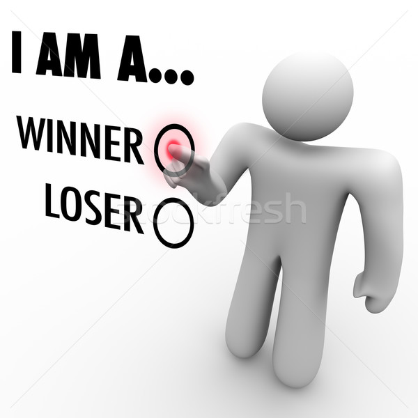 I Am a Winner vs. Loser - Choose Your Future Believe in Yourself Stock photo © iqoncept