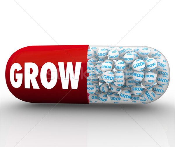Grow Capsule Pill Instant Growth Improvement Stock photo © iqoncept