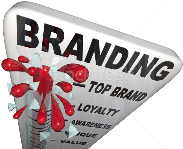 Branding Thermometer Measure Brand Loyalty Identity Stock photo © iqoncept