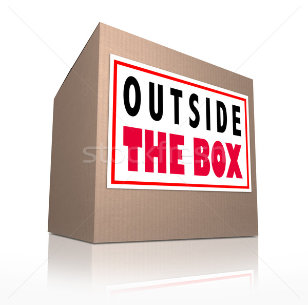 Outside the Box Innovative Unconventional Creative Thinking Stock photo © iqoncept