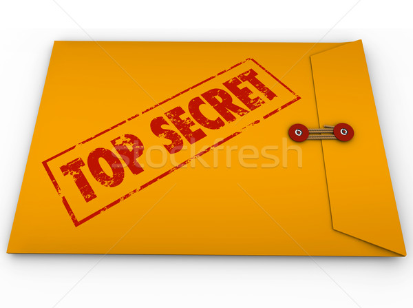 Top Secret Confidential Envelope Secret Information Stock photo © iqoncept