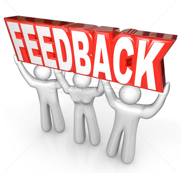 Feedback People Team Lift Word Customer Support Service Stock photo © iqoncept