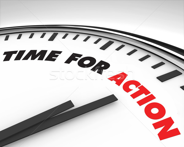 Stock photo: Time for Action - Clock