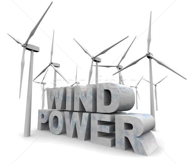 Wind Power Words - Alternative Energy Stock photo © iqoncept