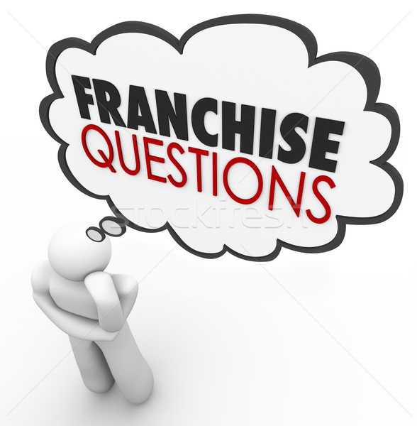 Franchise Questions Business Person Help License Chain Store Bra Stock photo © iqoncept