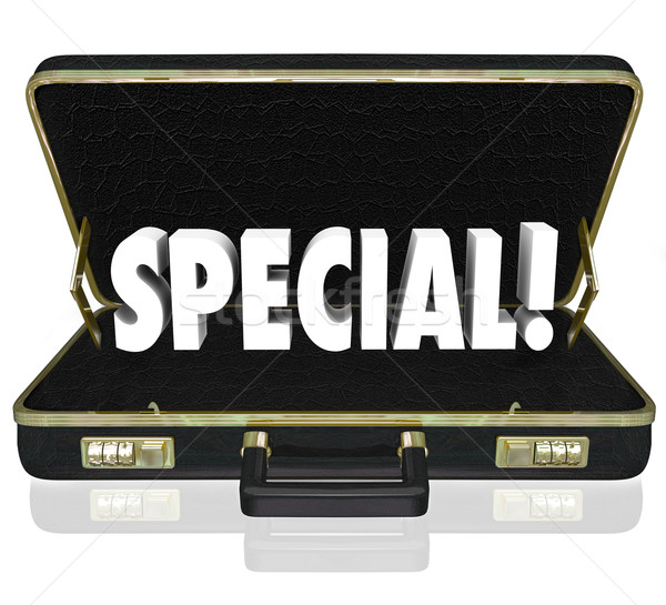 Special Offer Proposal Business Presentation Briefcase Stock photo © iqoncept