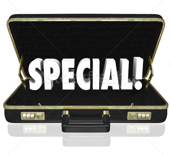 Propuesta negocios presentación maletín especial Foto stock © iqoncept