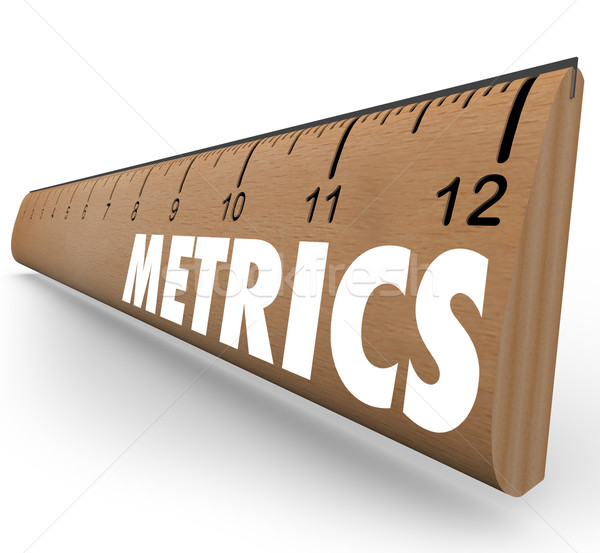 Metrics Word Ruler Measurement System Methodology Benchmarking Stock photo © iqoncept