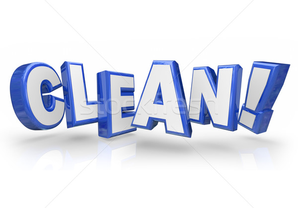 Clean 3d Blue Word Letters Safe Cleanliness Stock photo © iqoncept