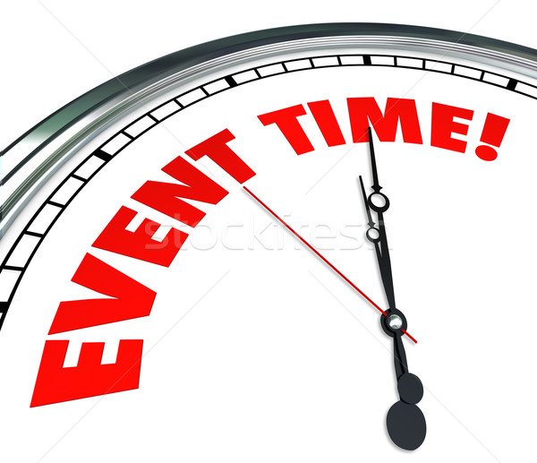Event Time Reminder Clock Countdown Deadline Stock photo © iqoncept