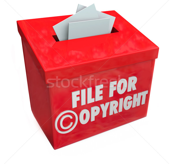 File for Copyright Red 3d Entry Box Intellectual Property Protec Stock photo © iqoncept
